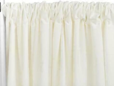 """Ivory Poly Premier 8ft H x 60"""" W drape/backdrop - Ivory 1 PK"""